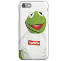 Kermit the frog for supreme  iPhone Case/Skin