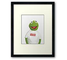 Kermit the frog for supreme  Framed Print