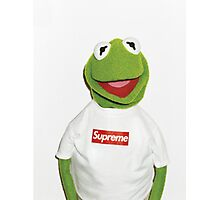 Kermit the frog for supreme  Photographic Print