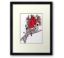Hearth in Hand, Red and Naked hearth Framed Print