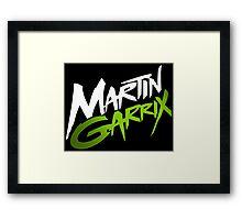 Martin Garrix Green Framed Print