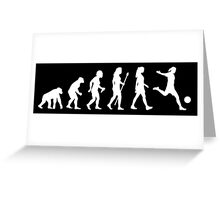 Womens Soccer Evolution Shirt Greeting Card