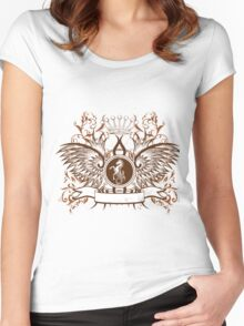 Beautiful and Cool Design vintage Horse and Crown Women's Fitted Scoop T-Shirt