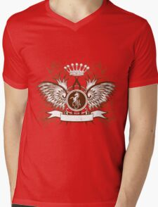 Beautiful and Cool Design vintage Horse and Crown Mens V-Neck T-Shirt
