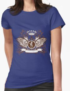 Beautiful and Cool Design vintage Horse and Crown Womens Fitted T-Shirt