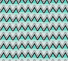 turquoise chevron by spinL