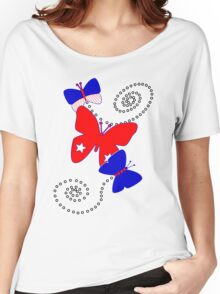 Patriotic Butterflies Women's Relaxed Fit T-Shirt