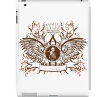Vintage Crown, horse and Eagle cute Design iPad Case/Skin
