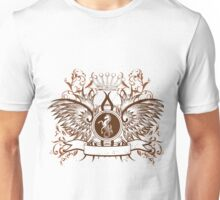 Vintage Crown, horse and Eagle cute Design Unisex T-Shirt