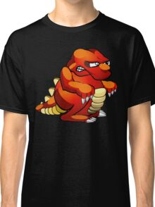 Red and Yellow Cartoon Monster Classic T-Shirt