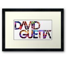 David Guetta Montage Framed Print