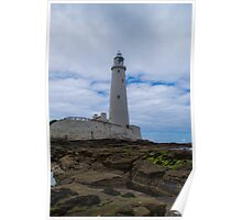 Whitley Bay St Mary's Lighthouse Poster