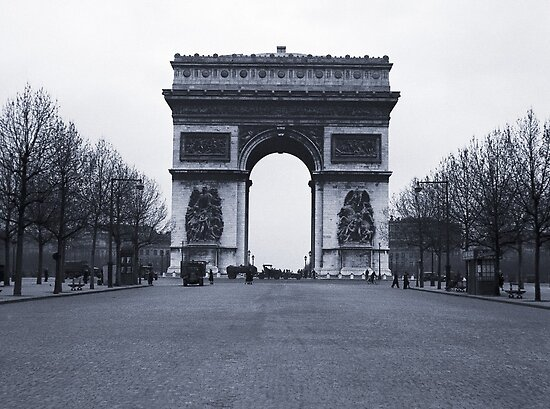 Arc de Triomphe - in 1945 by Jim Haley
