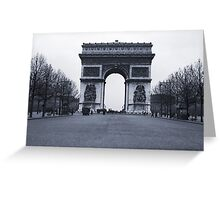 Arc de Triomphe - in 1945 Greeting Card