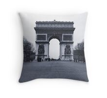 Arc de Triomphe - in 1945 Throw Pillow