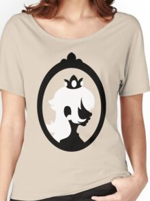 Princess Peach - Silhouette in Frame  Women's Relaxed Fit T-Shirt