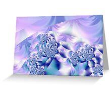 Lilac swirls Greeting Card
