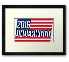 Frank Underwood 2016 - House Of Cards Framed Print