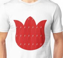 Paint Flowers on Red  Unisex T-Shirt