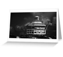 Lifeguard Station, Miami Beach Greeting Card