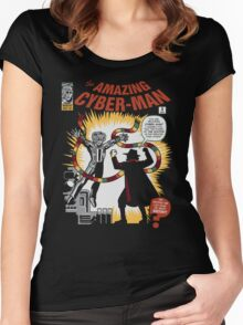 The Amazing Cyber-Man! Women's Fitted Scoop T-Shirt