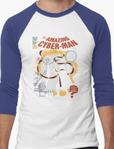 The Amazing Cyber-Man! Men's Baseball ¾ T-Shirt