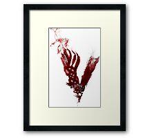 Vikings - Logo Blood Framed Print