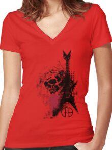 Trash Polka Dimebag Darrell Women's Fitted V-Neck T-Shirt