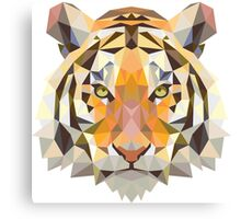 Tiger in Blurry and Digital Design Canvas Print