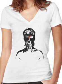 David Bowie Graphic T-Shirt Women's Fitted V-Neck T-Shirt