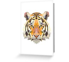 Digital and Cartoonish Tiger design Greeting Card