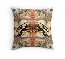 Dragon Spirals and tribal tattoo Dragons Throw Pillow