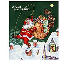 Vintage Christmas Santa Photographic Print