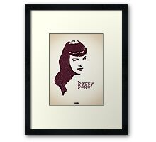 Icons - Betty Page Framed Print