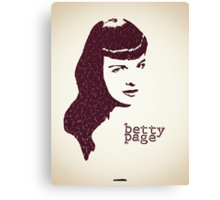 Icons - Betty Page Canvas Print