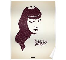 Icons - Betty Page Poster