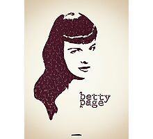 Icons - Betty Page Photographic Print