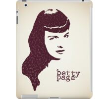 Icons - Betty Page iPad Case/Skin