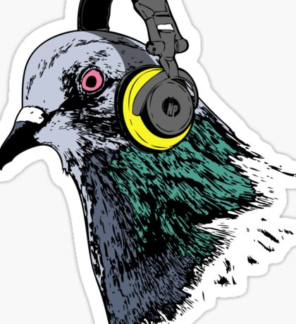 Techno Pigeon v2 Sticker