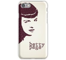 Icons - Betty Page iPhone Case/Skin