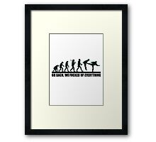 cute funny design, we fucked up everything Framed Print