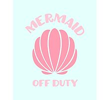 Mermaid Off Duty // Mermaid scales Photographic Print