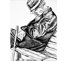 Pen and Ink Drawing - Sleepy Photographic Print