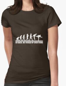Funny Human Evolution Womens Fitted T-Shirt