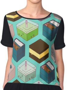 Cubes of goodies Chiffon Top