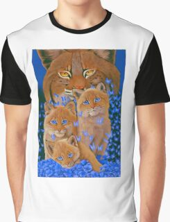 Bob  Cat Kittens Graphic T-Shirt