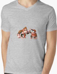 Donkey kong and Diddy Kong Mens V-Neck T-Shirt