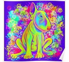 Colour Splash Spray Bull Terrier 2  Poster