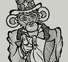 Uncle Sam Monkey 2 by Brett Gilbert