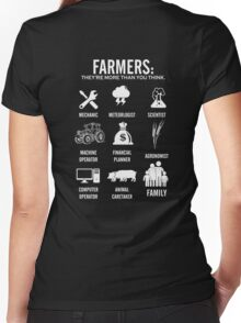 Farmer - They are more than you think Women's Fitted V-Neck T-Shirt